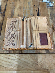 Desert Rose Leather Wallet - Natural