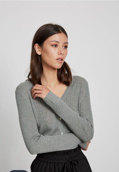 Light Knitted Cardi - Slate