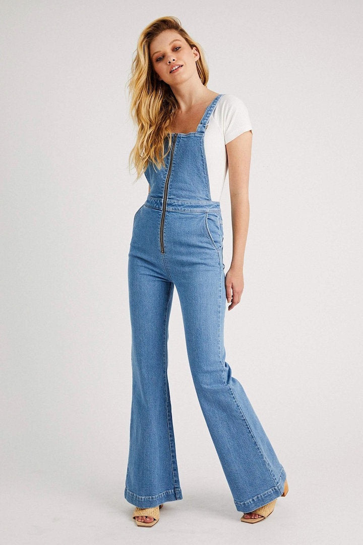 Eastcoast Flare Overall - Lilah Blue