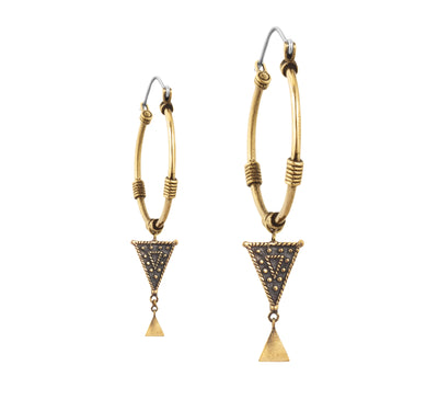 Nidra Large Hoops - Brass - Tierra Alma