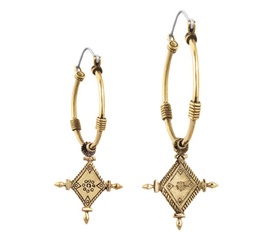 Imani Small Hoops - Brass - Tierra Alma
