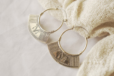 Semiya Small Hoops - Brass - Tierra Alma