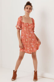 Love Story Mini Dress - Red Coral