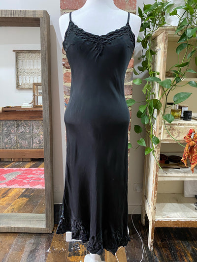Silk Satin Slip - Black