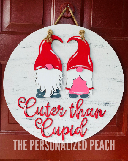 Cuter than Cupid Valentines Door Hanger