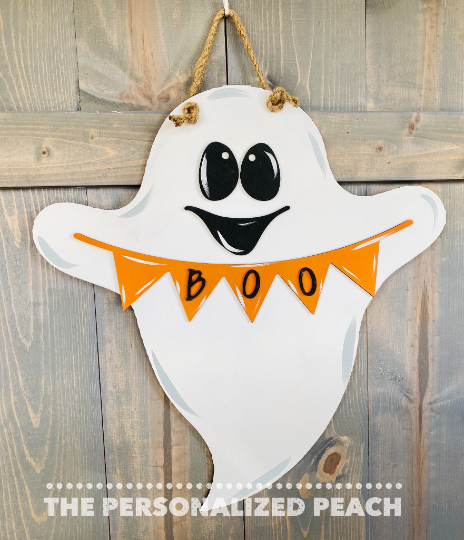 Halloween Door Hanger/ Boo Ghost Door Decor