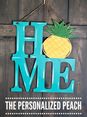 Pineapple HOME Door Hanger