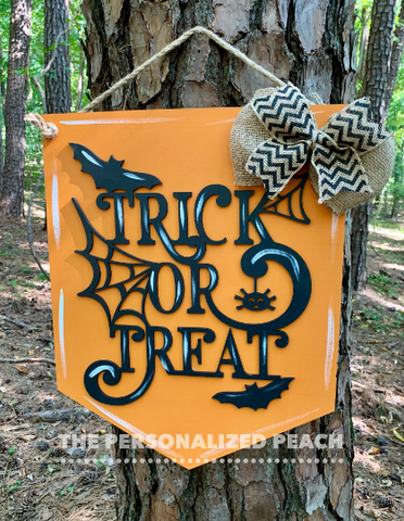 Trick or Treat Banner Door Hanger