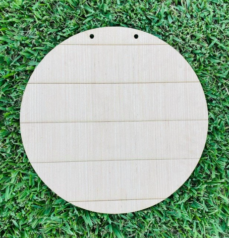 DIY Shiplap Round/ Shiplap Circle for Door Hanger/Craft Supplies