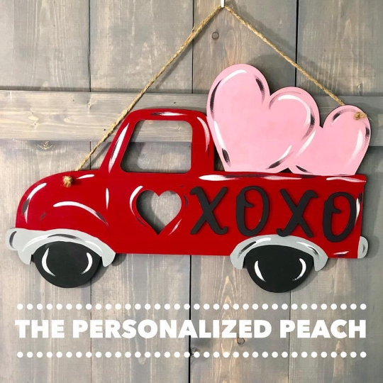 Valentines XOXO Truck Door Decor Door Hanger