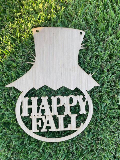 DIY/ Happy Fall with Scarecrow hat/ Laser Cut/ Blank for Paint Parties