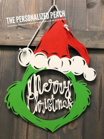 Merry Christmas Grinch Door hanger