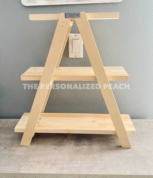 Unfinished DIY Tiered Tray by