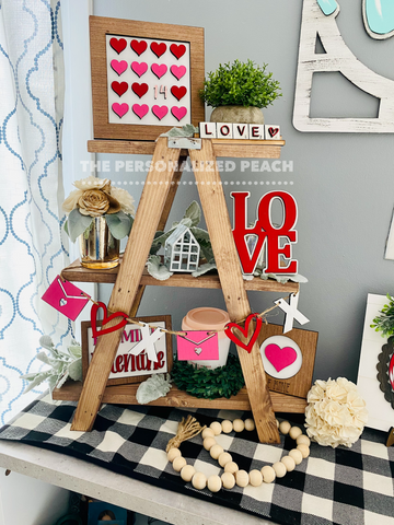 Valentines tiered tray kit-Unpainted