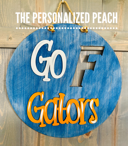 Go Gators Door Hanger