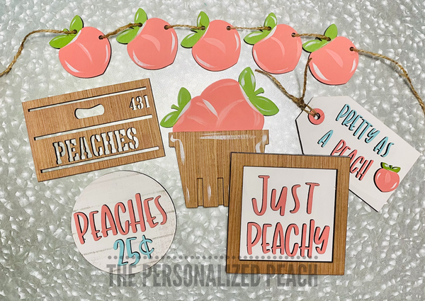 Peach Tiered Tray Kit