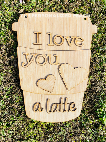 Valentines love you a latte Door Hander DIY