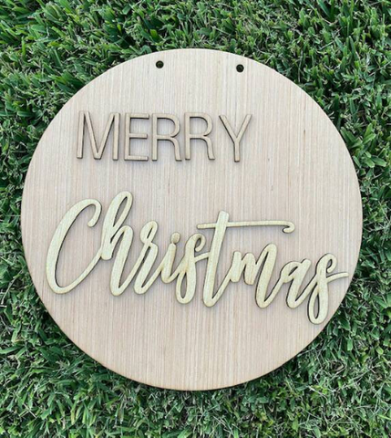 DIY Merry Christmas word art/ laser Cut /Christmas Door Hanger/Holiday Christmas Decoration/ Blank for Paint Parties