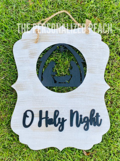 O' Holy Night/ Christmas Door Hanger