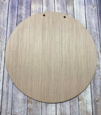 "1/4"" Round wood crafting blank"