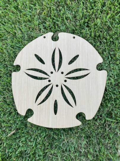 DIY / Sand Dollar / Front Door Hanger / Laser Cut / Blank for Paint Parties