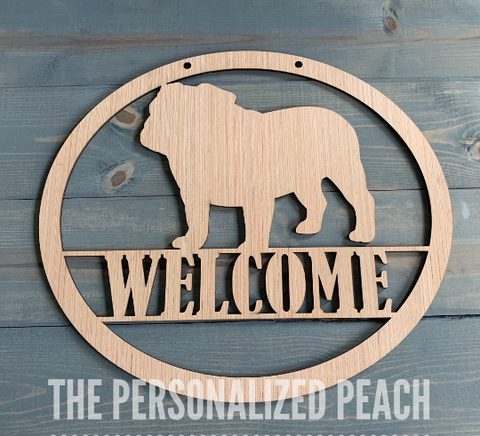 DIY/ Welcome Bulldog Door Hanger/ Blank for Paint Parties