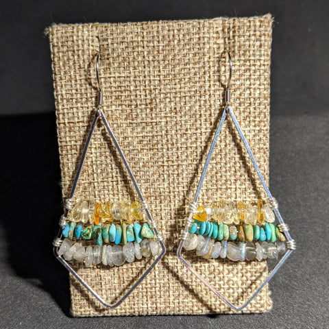 MOUNTAIN SUNSET EARRINGS-EARRINGS-Jipsi Junk-JipsiJunk
