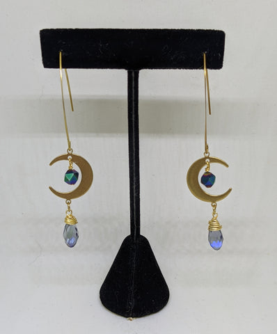 MOON DROP EARRINGS-EARRINGS-Jipsi Junk-JipsiJunk