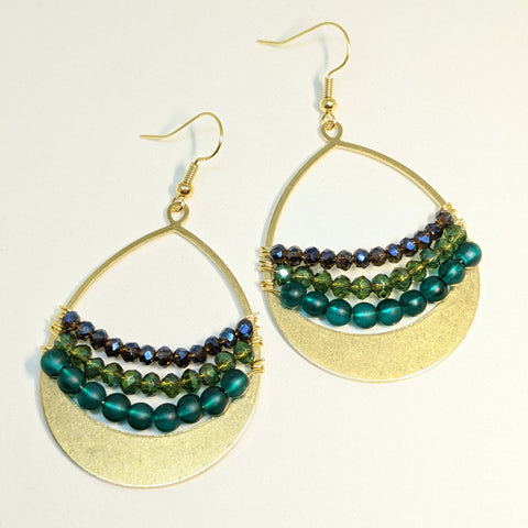 MIXED BEADED DROP EARRINGS-JipsiJunk-JipsiJunk