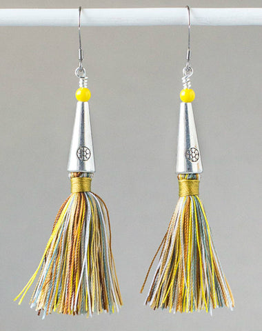 PRIMROSE YELLOW MULTICOLOR TASSEL EARRINGS-EARRINGS-Jipsi Junk-JipsiJunk