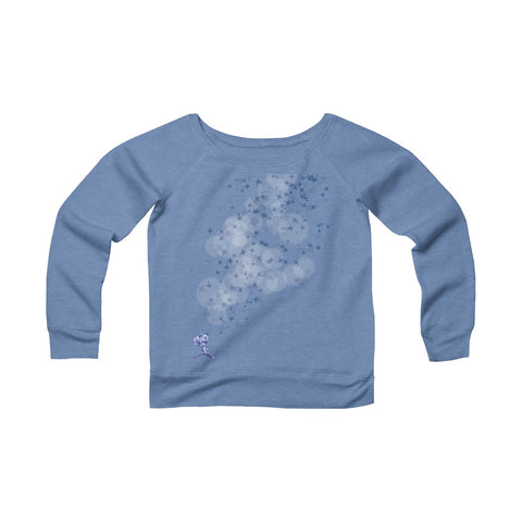 Camera & The Stars Women's Fleece Wide Neck Sweatshirt