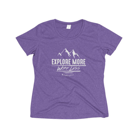 Explore More Women's Heather Wicking Poly Tee