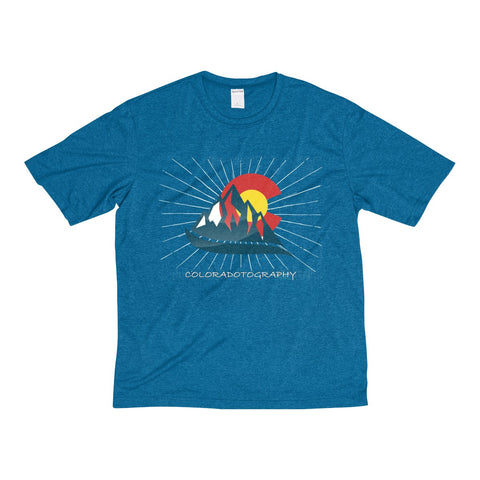 Coloradotography Sunbeam Men's Heather Dri-Fit Poly Tee