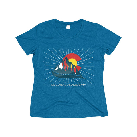 Coloradotography  Sunbeam Women's Heather Wicking Poly Tee