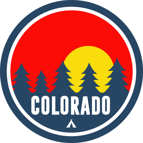 Colorado Red Trees Sticker