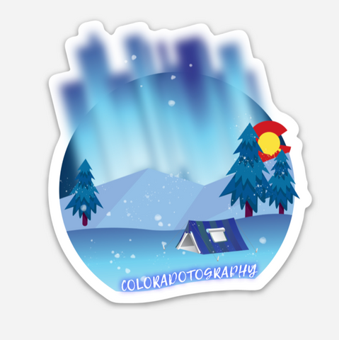 Camping Lights Sticker