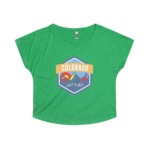 Colorado Let's Go! Women's Tri-Blend Dolman