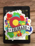 Colorado Splatter Banner Sticker