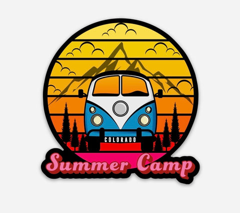 Summer Camp Stickers