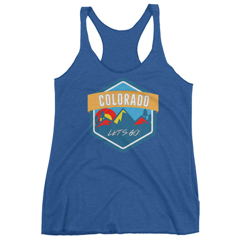 Colorado Let's Go! Women's racerback tank