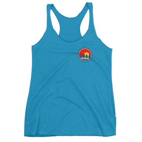 Colorado Red Trees 2.0 Women's Racerback Tank