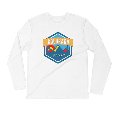 Colorado Let's Go! Long Sleeve Fitted Crew