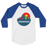 Colorado Mountain Sun 3/4 sleeve raglan shirt