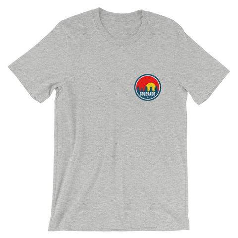 Colorado Red Trees 2.0 heather tee