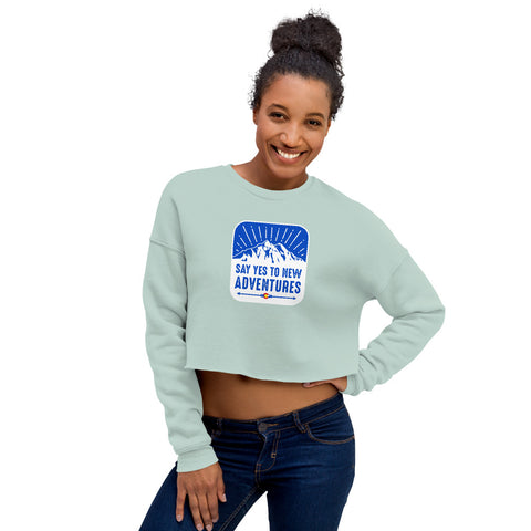 Yes to Adventure Crop Sweatshirt
