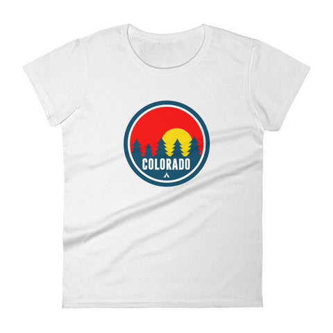 Colorado Red Trees Women's Cotton shirt