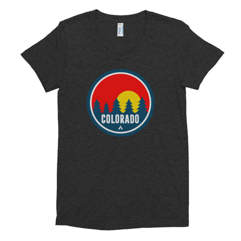 Colorado Red Trees Women's Tri-Blend