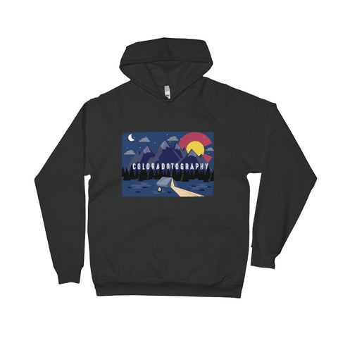 Camp Coloradotography Pullover Fleece Hoodie