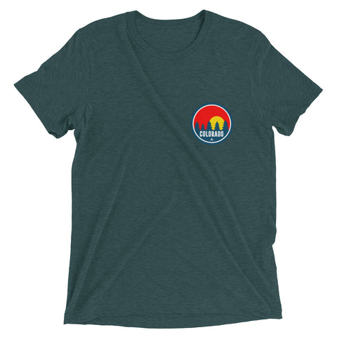 Colorado Red Trees 2.0 Tri Blend tee
