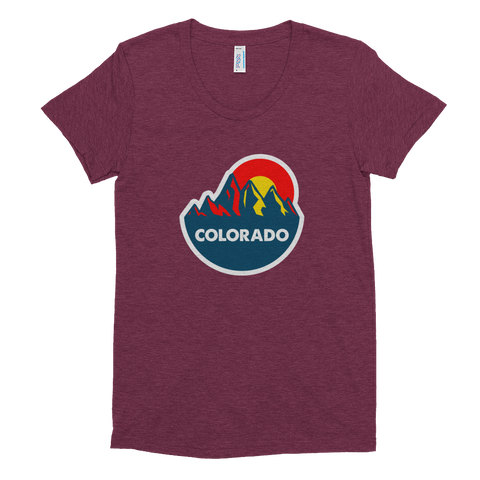 Colorado Mountain Sun Women's tri-blend shirt